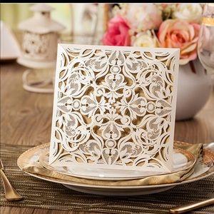 Laser Cut Lace Design Invitations - Bridal